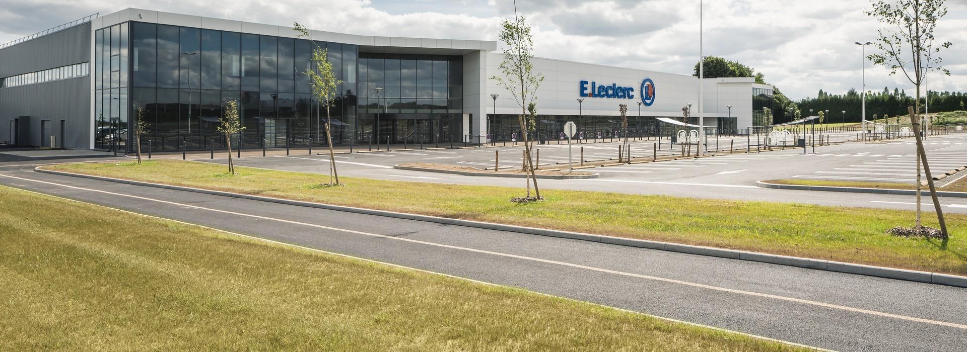 Centre commercial Leclerc à Pleumeleuc